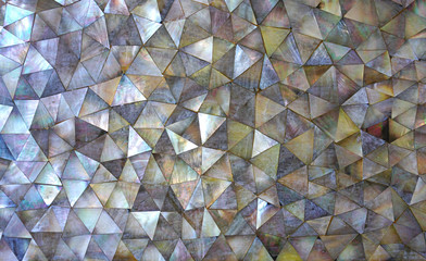 Dark mother of Pearl abstract mosaic background Wall mural