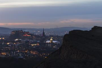 Edinburgh City and Salisbury Crags