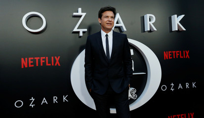 """Cast member Bateman poses at the premiere for Season 2 of the television series """"Ozark"""" in Los Angeles"""