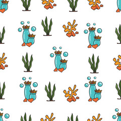 seamless pattern of corals