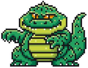 Vector illustration of Cartoon Monster - Pixel design