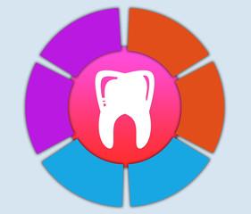 зуб белый в круге