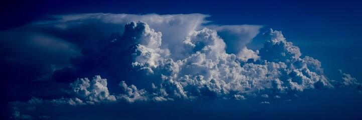 Clouds storm sky blue wind powerful