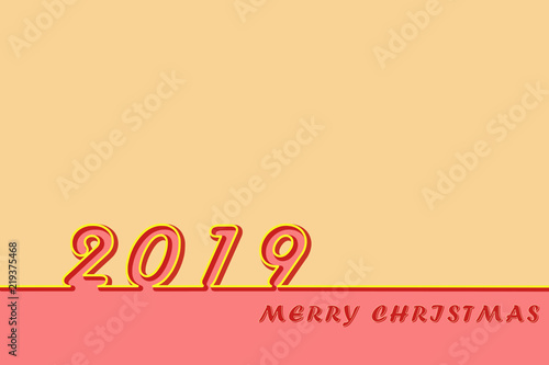 template for congratulation with christmas 2019 stock photo and