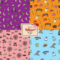 Halloween doodle pack, seamless, all in one