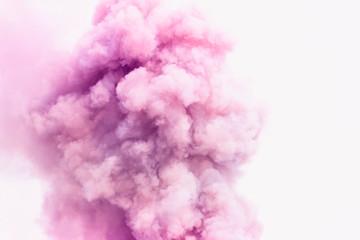 Pink smoke like clouds background.