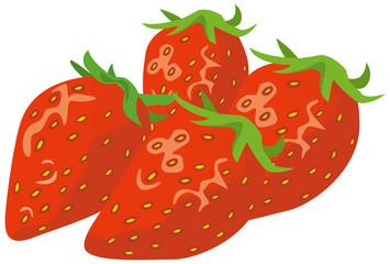 イチゴのイメージイラスト