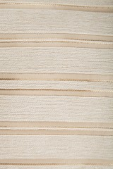 Striped Beige and White Upholstery Fabric
