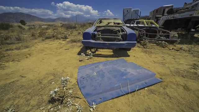 Abandoned Race Car In The Desert