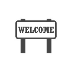 Welcome Sign, Word welcome, Simple vector