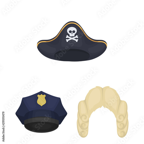Different kinds of hats cartoon icons in set collection for design.Headdress  vector symbol stock web illustration. 03edfbc8ca3c
