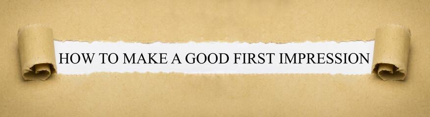 Obraz How to make a good first impression - fototapety do salonu