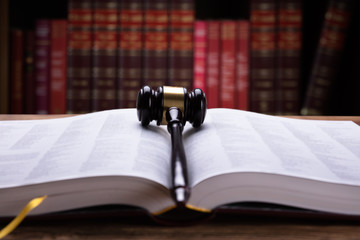 Open Law Book And Mallet