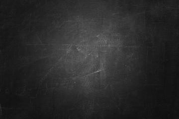 Fototapete - black board or chalkboard wall texture background