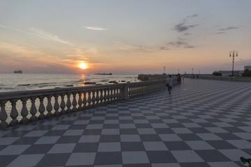 Tramonto a Livorno - Terrazza Mascagni