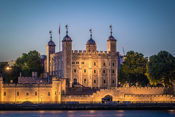 London - August 05, 2018: The Tower of London by the river Thames in London, England Wall mural