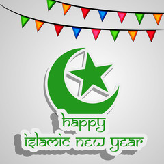 Illustration of Islamic New Year background