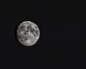 clear moon night sky