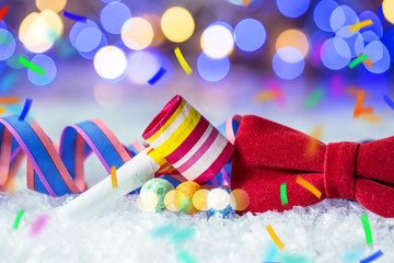 New Year's Eve and Carnival with streamers