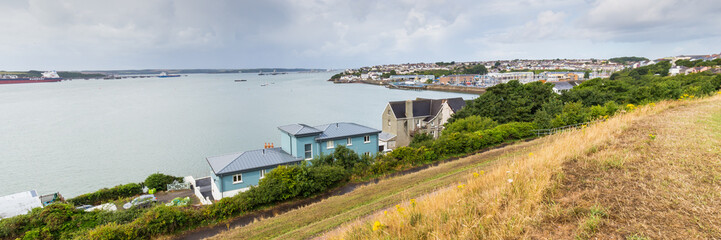 Skyline of Milford Haven in Pembrokeshire, in Wales, UK Wall mural