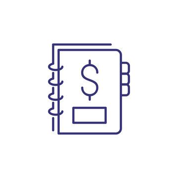 Financial log line icon