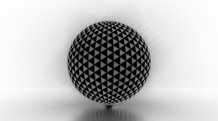 Glowing Triangle Light Sphere - 3D Illustration