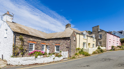 Colorful cottagesl in St Davids in Pembrokeshire, Wales, UK