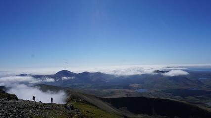 Blick vom Mount Snowdon im Snowdonia Nationalpark, Wales