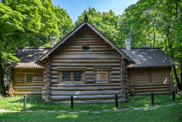 Peter the Great's House was built in 1702 year in Kolomenskoye park, Moscow, Russia