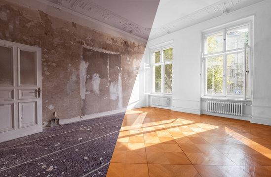 apartment room renovation concept