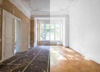 Obraz home renovation concept - apartment room restoration  - fototapety do salonu
