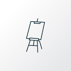 Drawing easel icon line symbol. Premium quality isolated canvas element in trendy style.