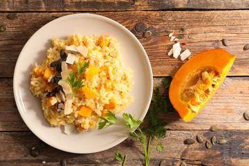 Fotobehang - creamy pumpkin risotto