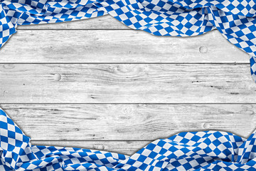 bavaria white wooden rustic wood background with bavarian flag empty copy space