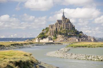 Mont Saint Michel, Normandie, France.