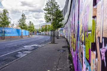 Peace Wall in Belfast, Northern Ireland