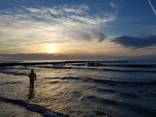 Silhouette on a beach