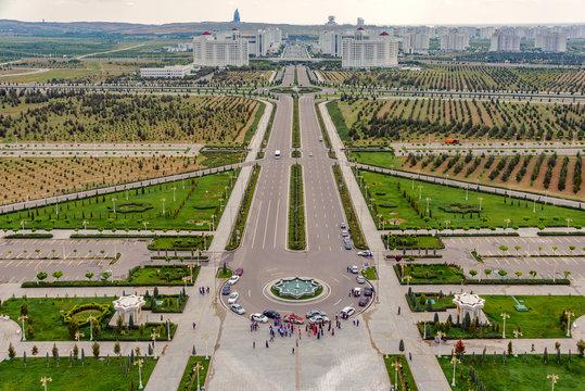The city of Ashgabat