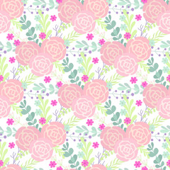 Cute Floral seamless pattern in the flower. Motifs scattered random. Seamless vector texture. Elegant template for fashion prints.