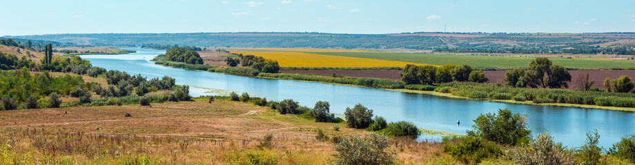 Wall Murals River Summer Southern Bug river, Ukraine
