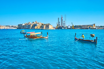The old Maltese boats, Valletta