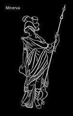 The Goddess Minerva with a spear