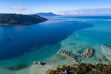 Tuinposter Luchtfoto Taha island aerial view panorama