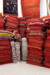 Rugs in a Market, Marrakech, Morocco