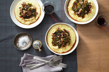 Polenta with Swiss Chard and Mushrooms