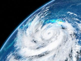 Hurricane from Earths orbit