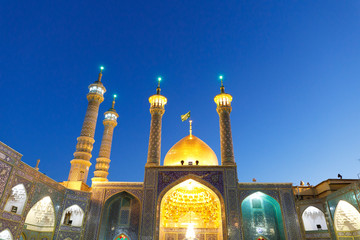 Islamic Republic of Iran. Qom. Shrine of Fatima Masumeh is considered by Shia Muslims one of the most significant Shi'i shrines in Iran. 03 March 2018