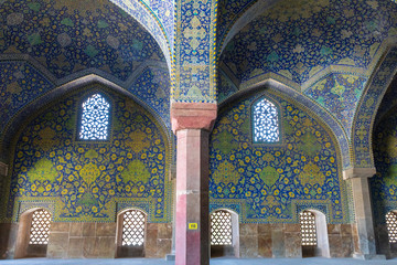 Islamic Republic of Iran. Isfahan ( Esfahan). Jameh Mosque  is a grand, congregational mosque. UNESCO World Heritage Site. One of the oldest mosques still standing in Iran.