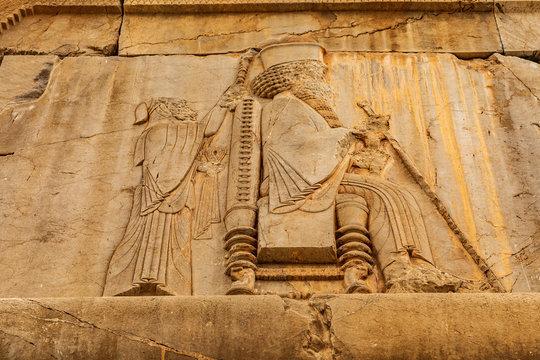 Islamic Republic of Iran, Shiraz.  Persepolis, Parsa. The ceremonial capital of the Achaemenid Empire (ca. 550–330 BC). Achaemenid style of architecture. UNESCO World Heritage Site.