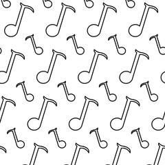 line quarter musical note sign background